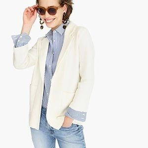 J. Crew / Ivory Sophie Open Front Sweater Blazer